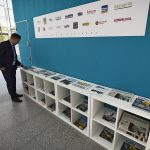 Transport Research Arena (TRA) 2018: Media Corner © AustriaTech/Zinner
